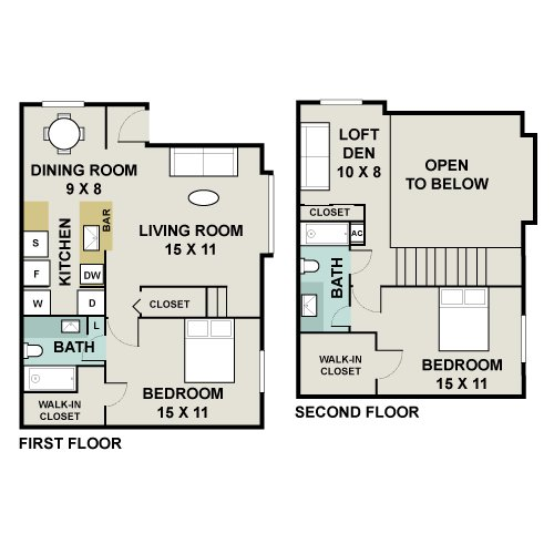 Breakers apartments apartments for rent daytona beach for Walk up apartment floor plans